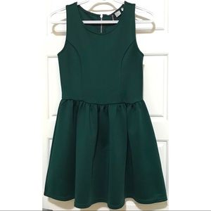 H&M Everest Green Semi-Formal A-Line Dress